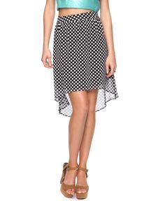 Polka Dot High-Low Skirt | FOREVER21