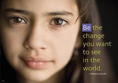 """""""Be the change you want to see in the world"""" poster #classroom #wordstoliveby $3.49"""