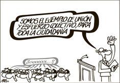 La cruda realidad de los políticos españoles. Habrá que tomárselo con humor...
