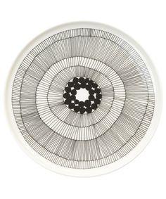 marimekko KITCHEN GOODS(マリメッコキッチングッズ)のSIIRTOLAPUUTARHA/PLATE(食器)|ホワイト×ブラック