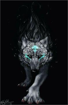 Je vois un loup sur se tableau,je ne sais pas qui  la mis là.mais se loup me fait peur il me fait tellement peur que je ne sais pas si il a de la bonté en lui.Son regarde de prédateur ma hypnotiser lors de notre rencontre.Seul c'est magnifique dessin turquoise mon révéler sa menasse.