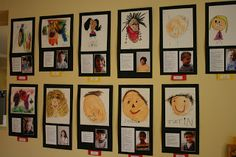 Pastel self portraits with a bio and photo of the artist....love these;)