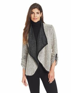 $45.90 - $68.00 nice NY Collection Women's Petite Long Sleeve Open Front Cardigan