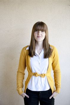 turn an ugly hoodie into a cute cardigan in no time!