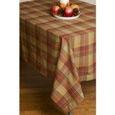 "$25 Amazon.com: Lintex Fall Plaid Tablecloth - 60x120"" - SCARECROW: Kitchen & Dining"