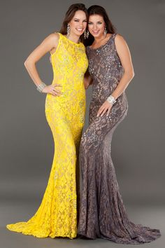 2014 New Arrival Sexy Scoop Straps Mermaid Backless Sweep Train Lace Prom Dress Beaded