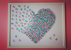Colorful Butterflies painting Bright Art Wall ART 3D by Gabiworks