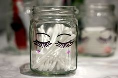 DIY: SHARPIE MAKE UP STORAGE JARS www.lingyeungb.com
