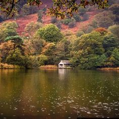 Carolyn Farthing-Dunn took this photograph while on a walk around Rydal Water in Cumbria. England Countryside, Autumn Lake, Autumn Colours, Bbc Radio, Cumbria, Lake District, Big Picture, Travel Around, Great Britain