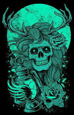 T-shirt artwork for band or clothing line, poster art prints available for sale Dark Fantasy Art, Fantasy Kunst, Witchy Wallpaper, Skull Wallpaper, Graffiti Wallpaper, Arte Dope, Dope Art, Art And Illustration, Wallpaper Bonitos