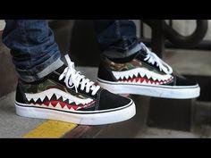 9ada7482211 Gucci Vans Old Skool - Custom Painted Gucci Snake Shoes