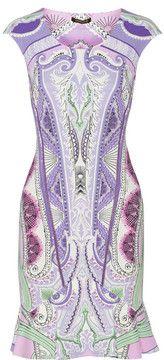ShopStyle.com: Roberto Cavalli Printed stretch-jersey dress $340.50