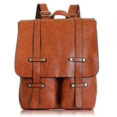 I like this! Retro Double Pocket Backpack Solid Color College Bag only $35.99 from ByGoods.com!