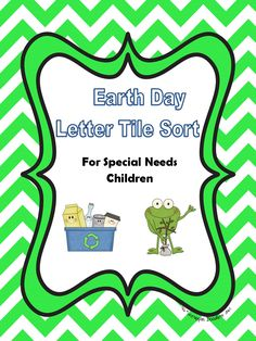 {FREE PRINTABLE} Earth Day Letter Tile Sort for Children with Special Needs