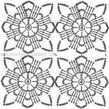 New Woman's Crochet Patterns Part 16 - Beautiful Crochet Patterns and Knitting Patterns Filet Crochet, Crochet Shawl Diagram, Beau Crochet, Crochet Motif Patterns, Crochet Chart, Thread Crochet, Love Crochet, Beautiful Crochet, Crochet Doilies