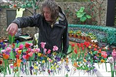 Not quite a real garden. James May in the Paradise in Plasticine garden at the Chelsea Flower Show! Are your suppliers what they seem? James May, Plasticine, Chelsea Flower Show, Grand Tour, Some Pictures, Garden Inspiration, Paradise, Flowers, Gardens