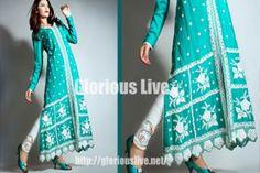 Green Linen Embroidery Dress