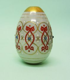 Russian Glass Easter Egg By The Imperial Glass Works, St. Petersburg, Ca 1870. Height: 8 cm. Diameter: 5.5 cm. Weight: 74 gr.