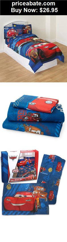 Kids-Bedding: DISNEY CARS LIGHTNING MCQUEEN Bedding Boys Blue Bedroom Bed 3pc Twin Sheets Set - BUY IT NOW ONLY $26.95