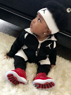 I have sooo many other pins you'd love ✨ Come check them out: marsryanx Baby Boy Swag, Cute Baby Boy Outfits, Toddler Boy Outfits, Cute Baby Clothes, Kids Outfits, Cute Black Baby Boys, Cute Little Baby, Cute Baby Girl, Pretty Baby
