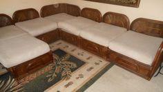 Mid Century Modern Rattan Bamboo Sectional Modular Sofa Set Couch Chair McGuire? #MidCenturyModern #McGuire