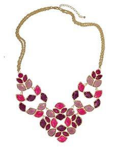 "Kendra Scott ""Grayce"" Statement Necklace in Blossom, $245.00"