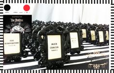 Yes to this idea as place holders AND wedding favours! Tim Burton inspired wedding.