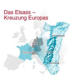 Das Elsass - Kreuzung Europas