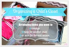 Organizing a Child's Closet
