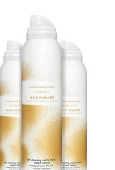 Grease lightening, Oil absorbing dry shampoo in Blondish Make Hair Lighter, How To Make Hair, Bumble And Bumble Hair Powder, Grease Lightening, Light Hair, Dry Shampoo, Hair Makeup, Cover, Oil