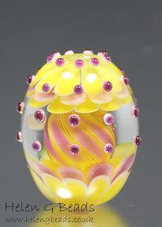 Carousel Lampwork Focal Bead