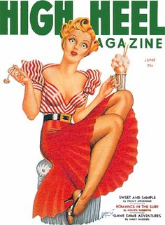 High Heel Magazine (looks vintage) Vintage Outfits, Vintage Fashion, Vintage Classics, Lovely Legs, Vintage Magazines, Looks Vintage, Pin Up Girls, Vintage Posters, Me Too Shoes