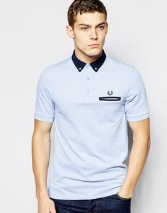 Fred Perry Polo Shirt with Contrast Collar Slim Fit