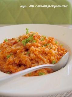 フライパンで10分!簡単*残りご飯でツナとトマトのチーズリゾット♪|レシピブログ