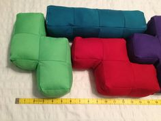 Tetris Pillows/Plushes Tetrominoes by OliviasFey on Etsy