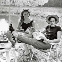 Alain Delon und Senta Berger