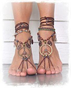 Peace beach sandles