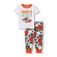 MVP 'de papá' Mejor Deportes Niños bebés y Deportes de impresión pantalones PJ Set