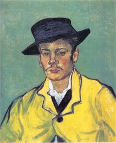 Vincent Van Gogh [Dutch Post-Impressionist Painter, Portrait of Armand Roulin 1888 oil on canvas Museum Folkwang Essen, Germany, Europe Art Van, Van Gogh Art, Rembrandt, Vincent Van Gogh, Claude Monet, Van Gogh Pinturas, Van Gogh Portraits, Portrait Paintings, Georges Seurat