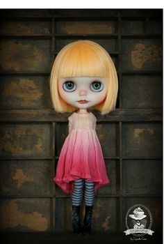The Withered Flower Ombre Blythe Dress  Sunset