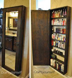 Install a Full-Length Mirror with Hidden Shelving