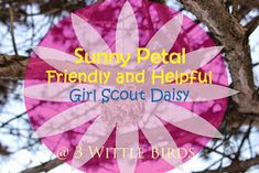 3 Wittle Birds: Girl Scout Daisy Meeting: Sunny Petal Friendly and Helpful Badge Girl Scout Daisy Petals, Daisy Girl Scouts, Girl Scout Badges, Brownie Girl Scouts, Girl Scout Leader, Girl Scout Troop, Girl Scout Activities, Mighty Girl, Girl Scout Crafts