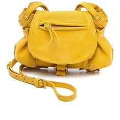 Jerome Dreyfuss Twee Mini ($575) ❤ liked on Polyvore featuring bags, handbags, shoulder bags, accessories, women, handbags purses, purse shoulder bag, shoulder handbags, miniature purse and yellow shoulder bag