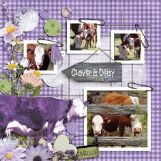 """Will the real daisy step up. My beautiful cow Clover and her baby Daisy. Created with the fabulous template from LissyKay Designs Stitch N Dots <a rel=""""nofollow"""" href=""""http://www.godigitalscrapbooking.com/shop/index.php?main_page=product_dnld_info&cPath=29_308&products_id=31274"""" target=""""_blank"""">http://www.godigitalscrapbooking.com/shop/index.php?main_page=product_dnld_info&a..."""