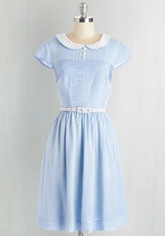Confectioner's Dream Dress in Sky. As you embark on a tour of your favorite candy factory, youre feeling lovely as can be in this powder-blue dress from Bea Dot - a ModCloth exclusive! #blue #bridesmaid #modcloth