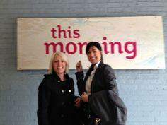 Nina & Karen going into ITV Studios to meet Dr Chris.