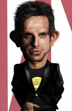 Funny Celebrity Charicatures-Ben Stiller