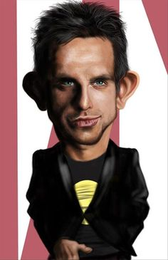 Funny Celebrity Charicatures-Ben Stiller