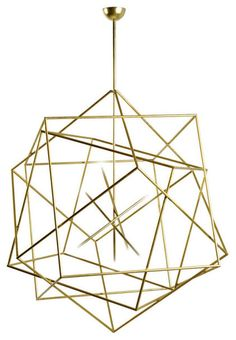 Hubert Le Gall Polyedres Brass Chandelier. Gorgeous! But having things dangling from ceilings looks quite disgusting.