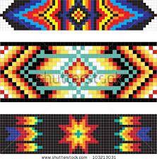 Resultado de imagen para imagenes de cintos de chaquira patrones telar